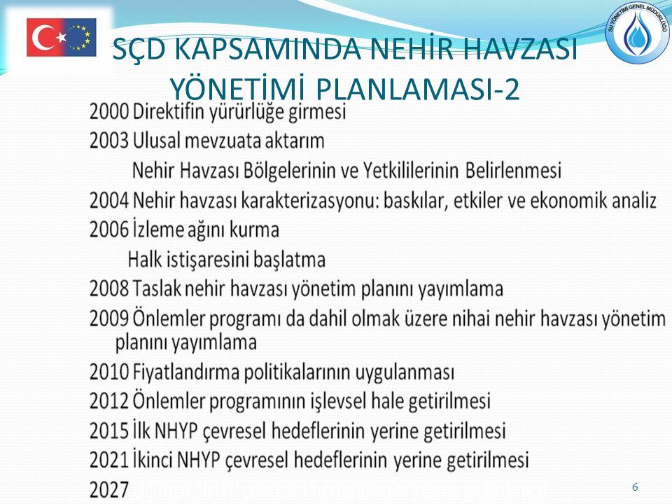 SÇD KAPSAMINDA NEHİR HAVZASI YÖNETİMİ PLANLAMASI-2
