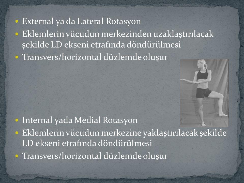 External ya da Lateral Rotasyon