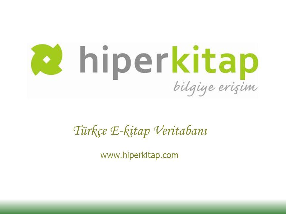 Türkçe E-kitap Veritabanı www.hiperkitap.com