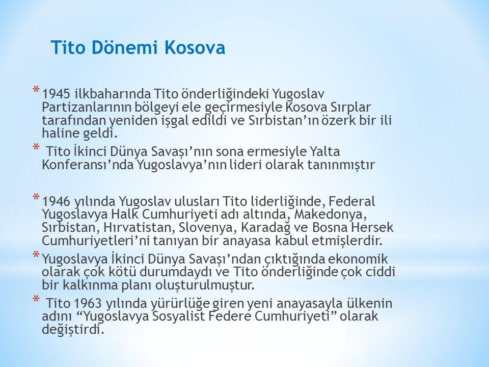 Tito Dönemi Kosova.