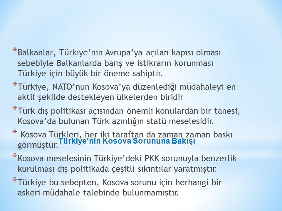 Türkiye'nin Kosova Sorununa Bakışı