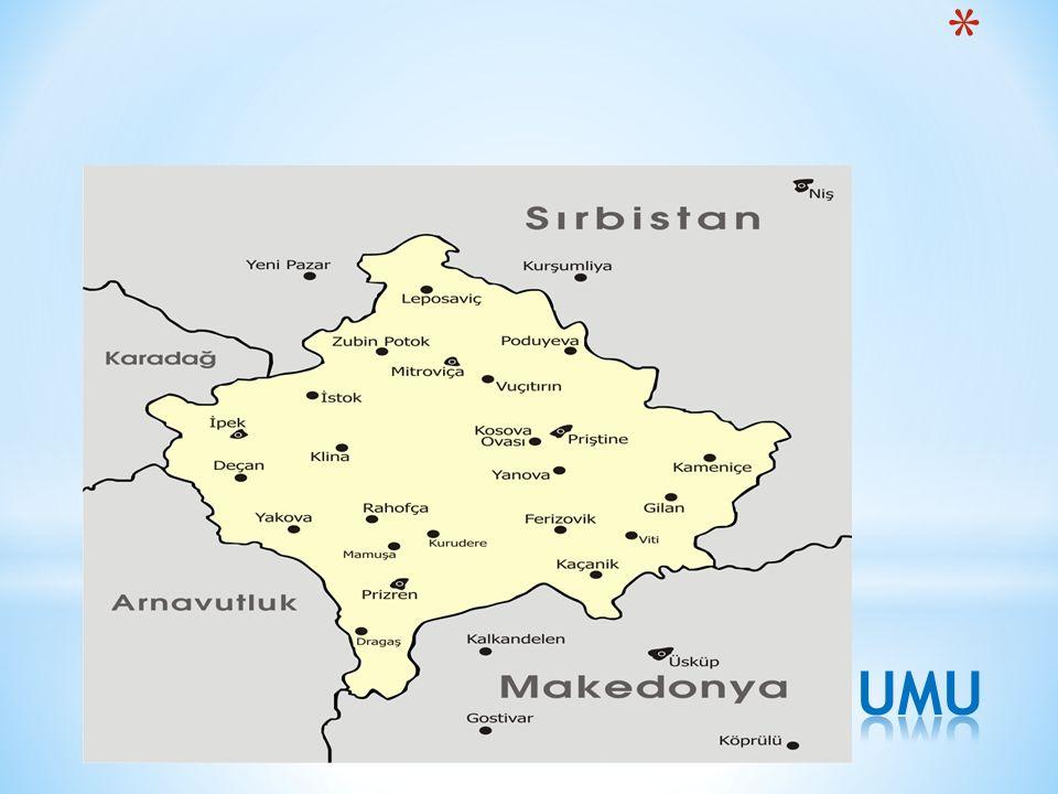 KOSOVA'NIN KONUMU