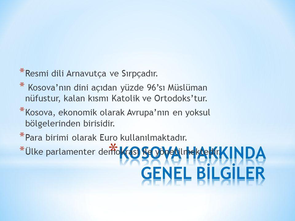 KOSOVA HAKKINDA GENEL BİLGİLER
