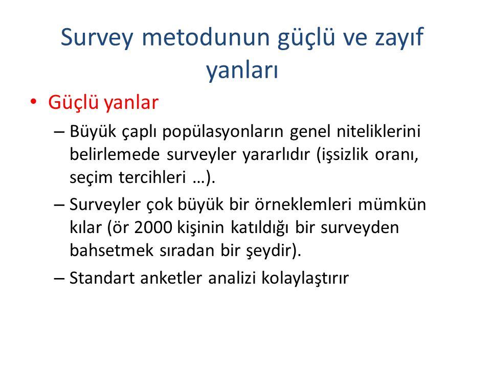Survey metodunun güçlü ve zayıf yanları