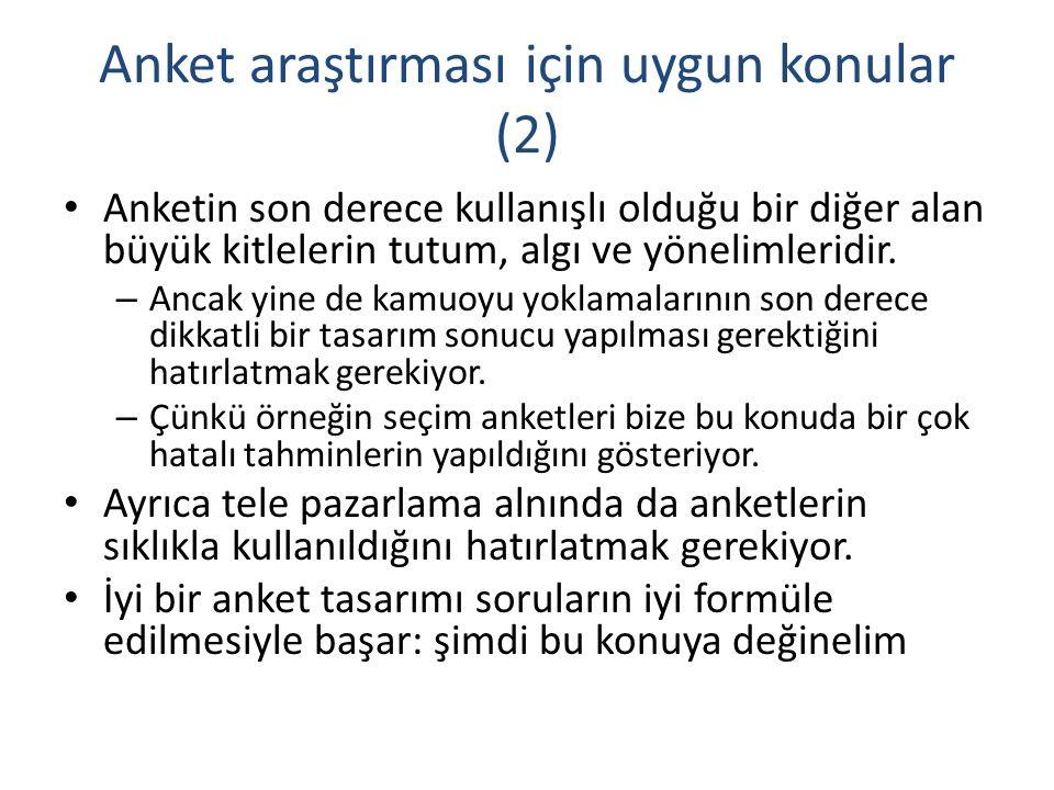 Anket araştırması için uygun konular (2)