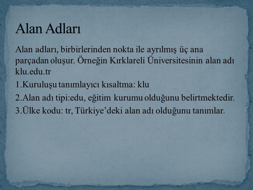 Alan Adları