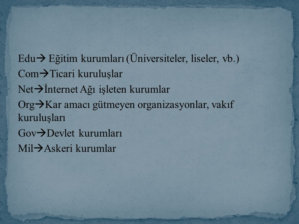 Edu Eğitim kurumları (Üniversiteler, liseler, vb