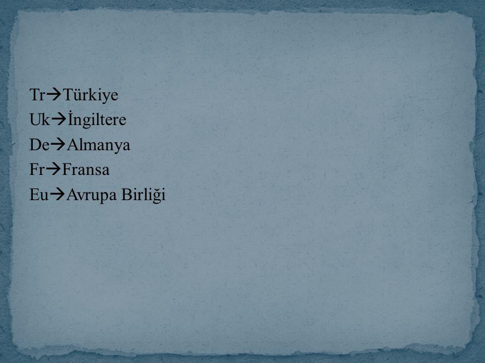 TrTürkiye Ukİngiltere DeAlmanya FrFransa EuAvrupa Birliği