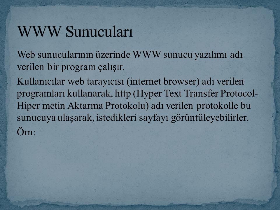 WWW Sunucuları
