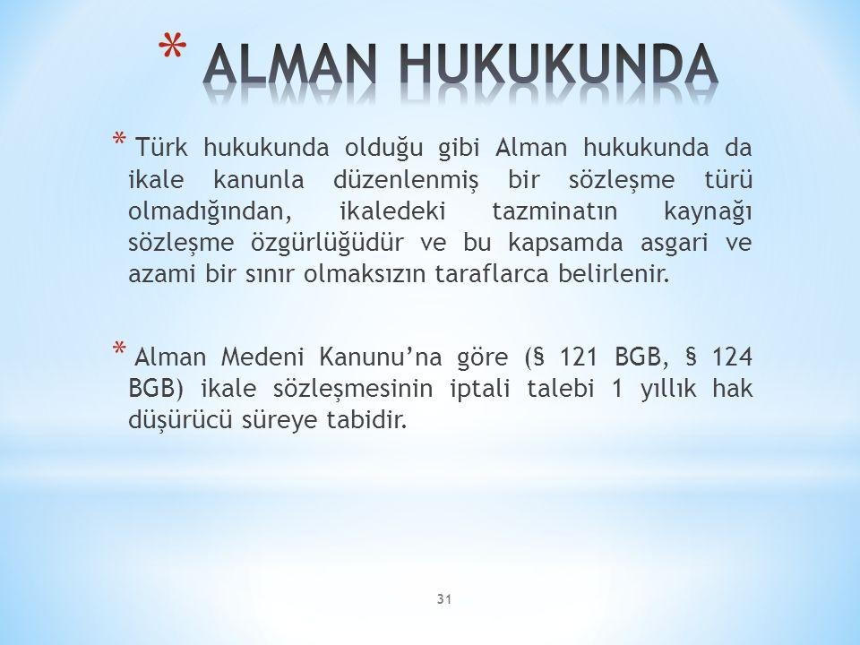 ALMAN HUKUKUNDA