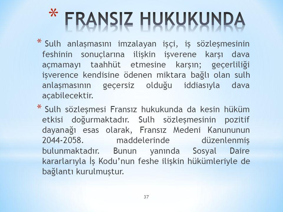 FRANSIZ HUKUKUNDA