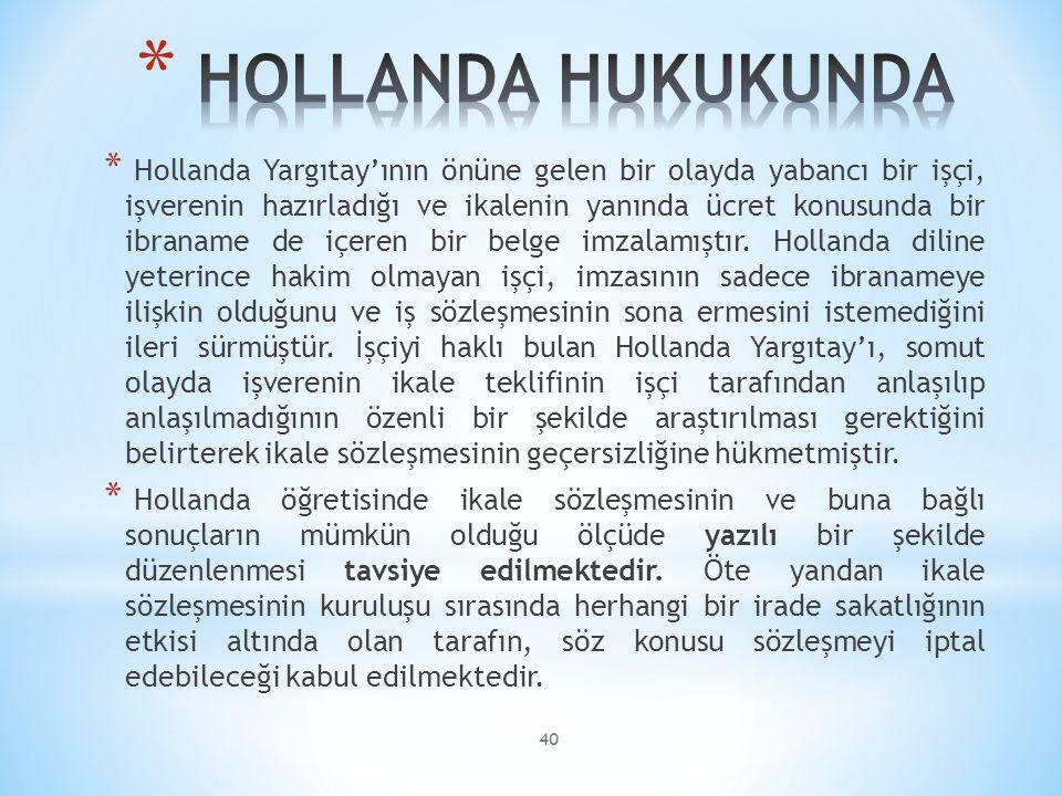 HOLLANDA HUKUKUNDA