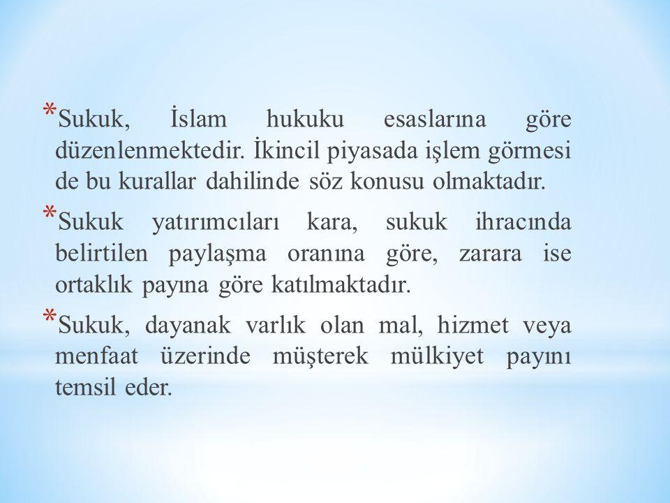Sukuk, İslam hukuku esaslarına göre düzenlenmektedir