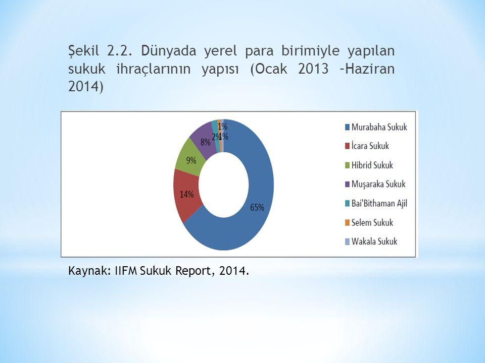 Şekil 2.2. Dünyada yerel para birimiyle yapılan sukuk ihraçlarının yapısı (Ocak 2013 –Haziran 2014)
