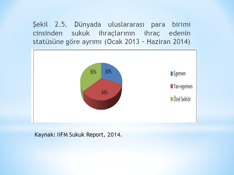 Şekil 2.5. Dünyada uluslararası para birimi cinsinden sukuk ihraçlarının ihraç edenin statüsüne göre ayrımı (Ocak 2013 – Haziran 2014)