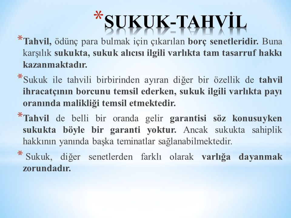 SUKUK-TAHVİL
