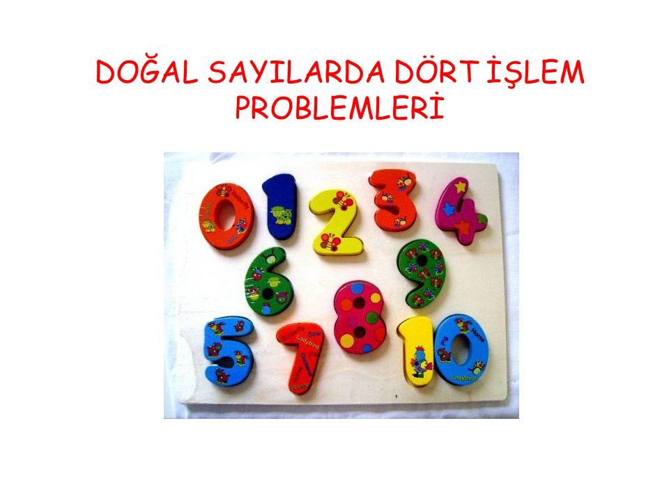 DOĞAL SAYILARDA DÖRT İŞLEM PROBLEMLERİ