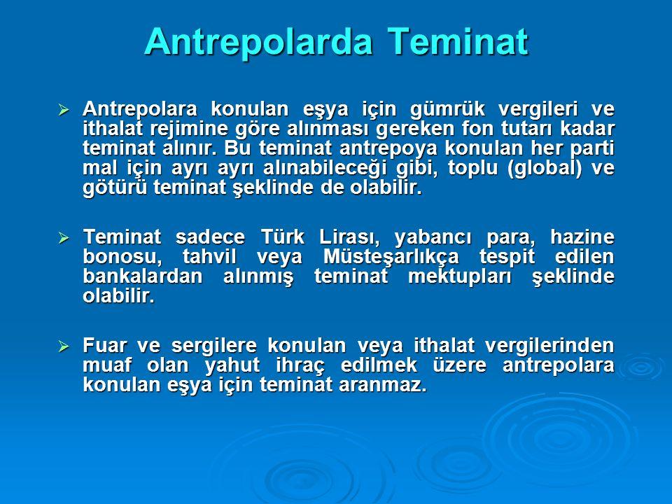 Antrepolarda Teminat