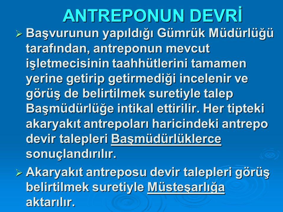 ANTREPONUN DEVRİ