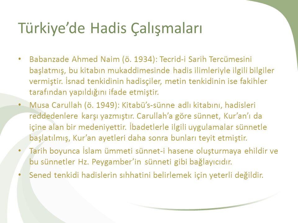 Türkiye'de Hadis Çalışmaları