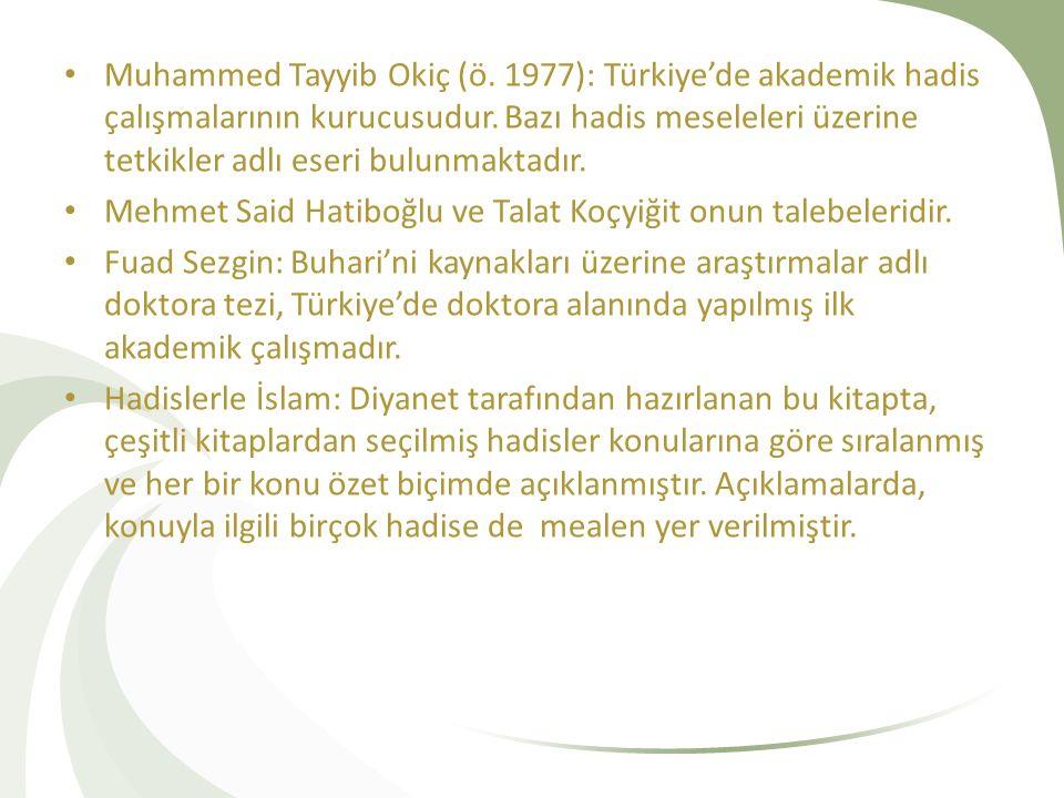 Muhammed Tayyib Okiç (ö