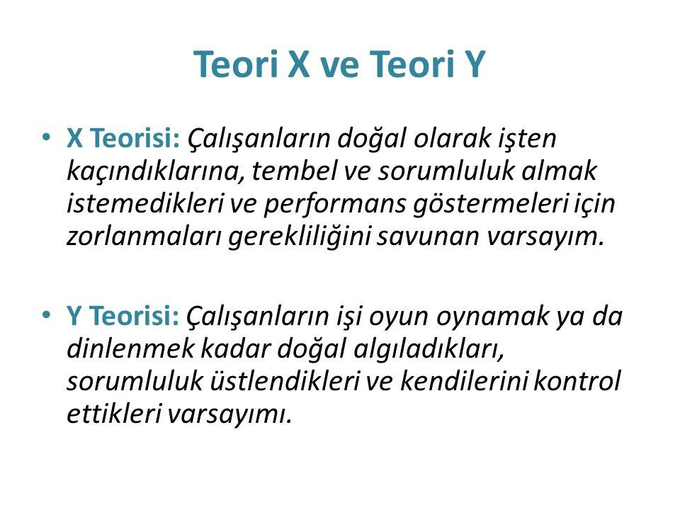 Teori X ve Teori Y