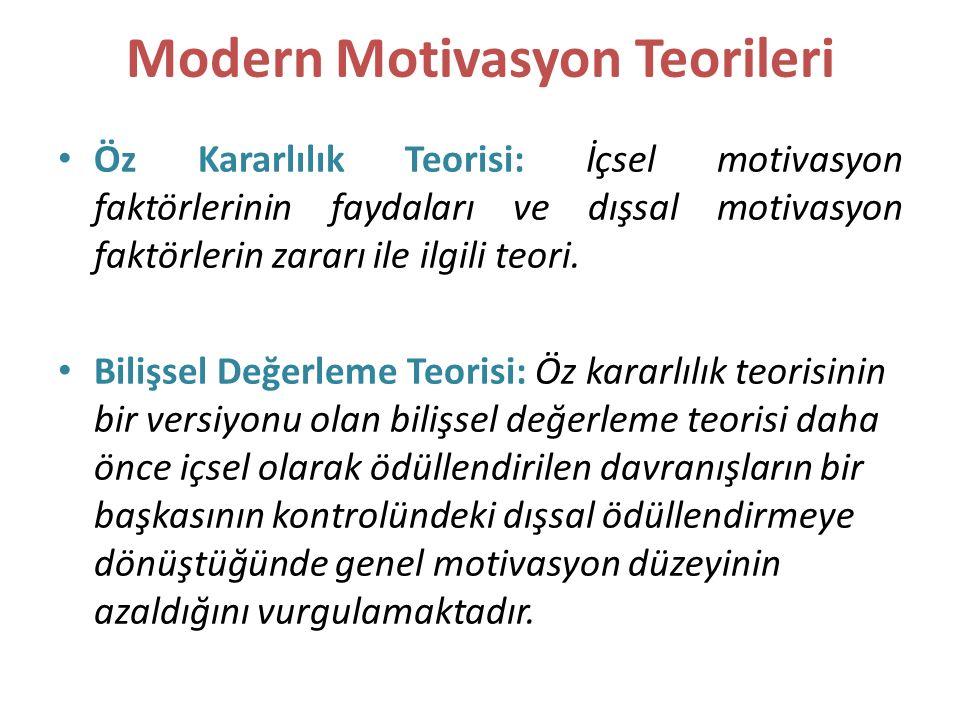 Modern Motivasyon Teorileri