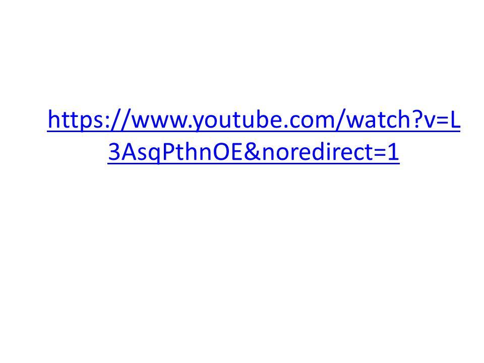 https://www.youtube.com/watch v=L3AsqPthnOE&noredirect=1