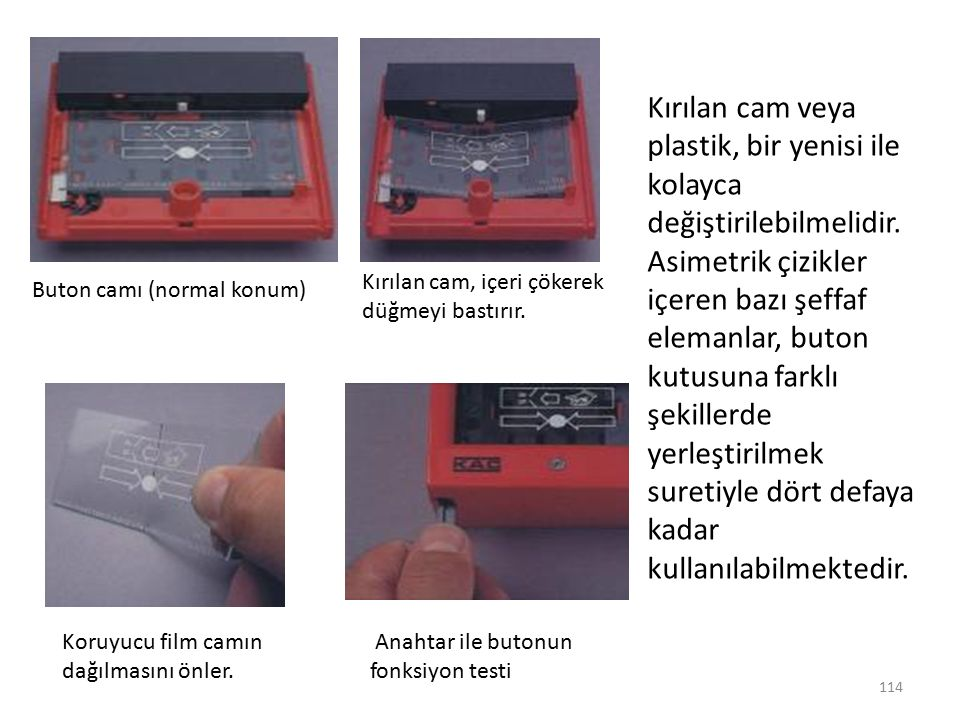 Kırılan cam veya plastik, bir yenisi ile kolayca değiştirilebilmelidir