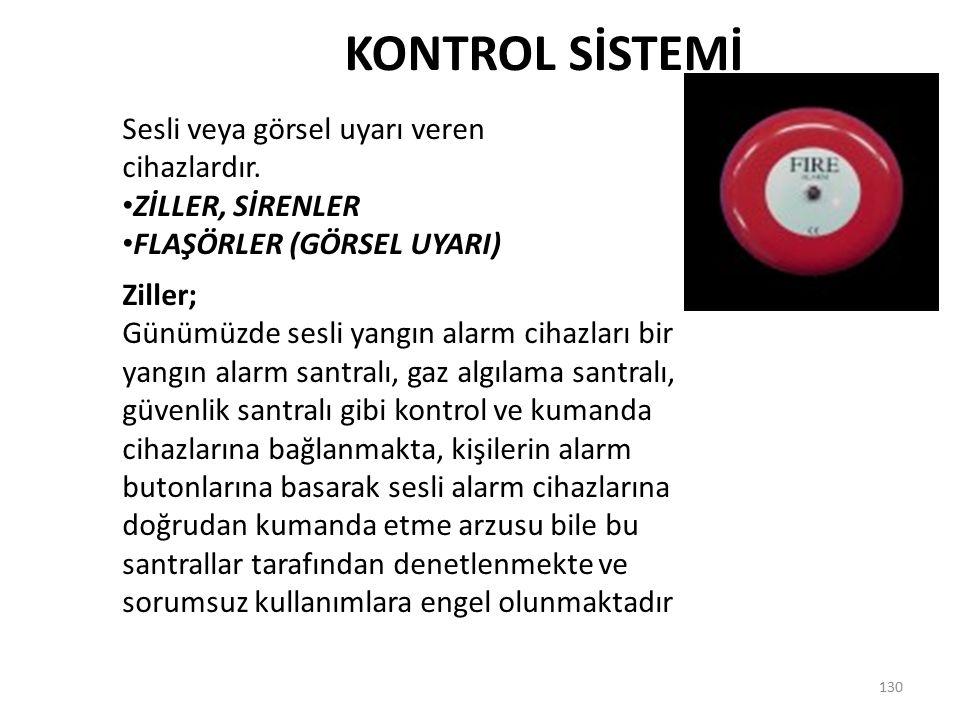 KONTROL SİSTEMİ Sesli veya görsel uyarı veren cihazlardır.