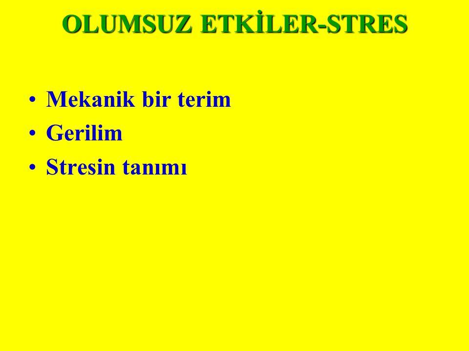 OLUMSUZ ETKİLER-STRES