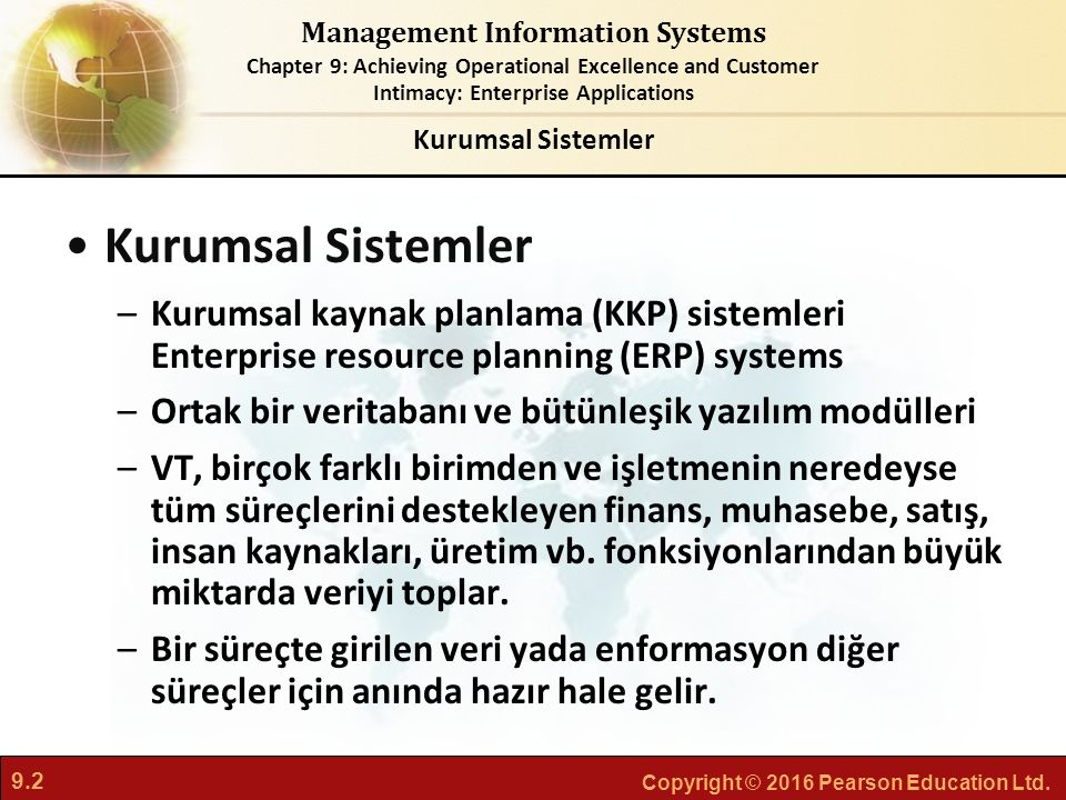 Kurumsal Sistemler Kurumsal Sistemler. Kurumsal kaynak planlama (KKP) sistemleri Enterprise resource planning (ERP) systems.