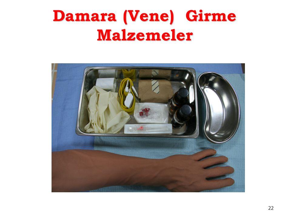 Damara (Vene) Girme Malzemeler