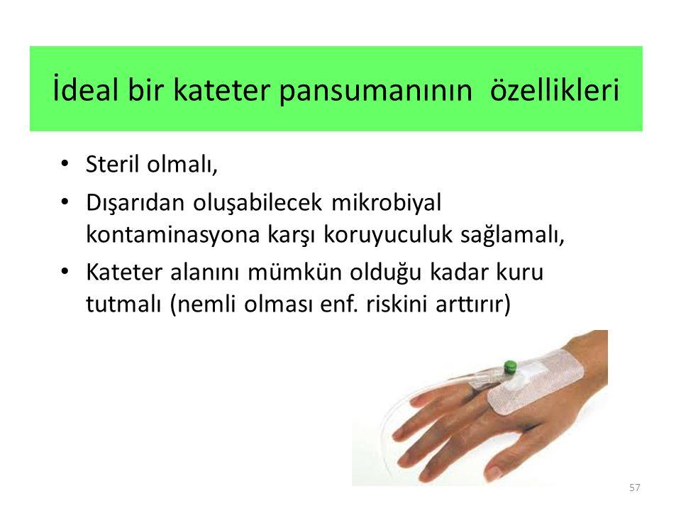 İdeal bir kateter pansumanının özellikleri