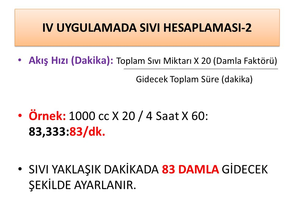 IV UYGULAMADA SIVI HESAPLAMASI-2
