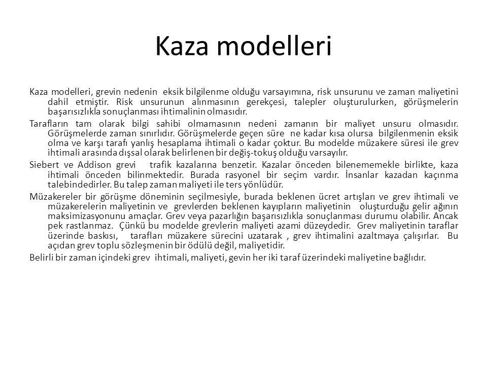 Kaza modelleri