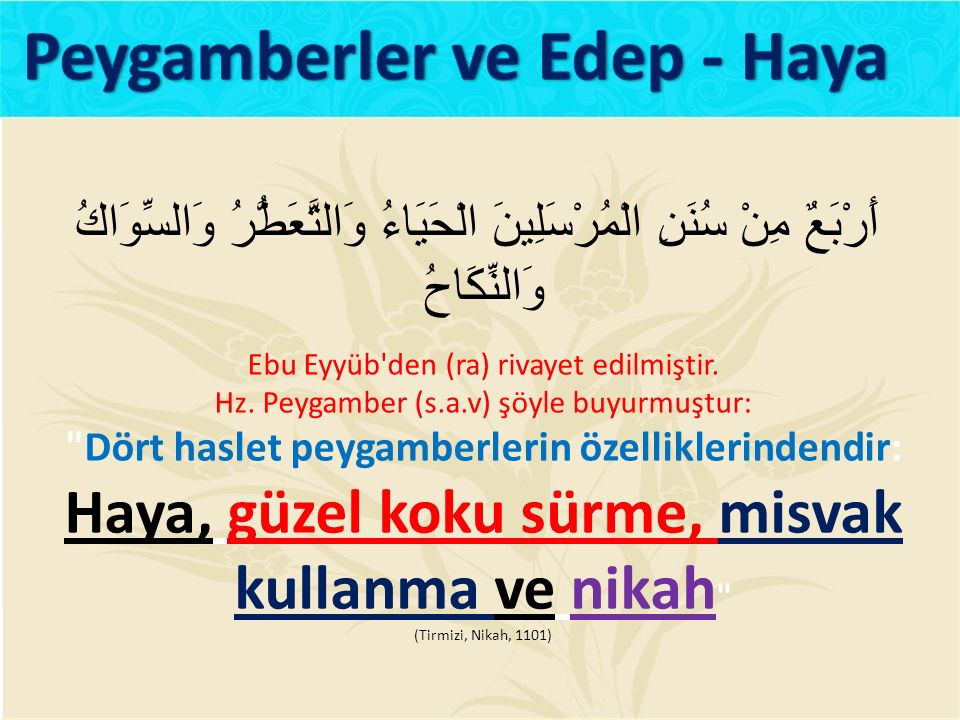 Peygamberler ve Edep - Haya