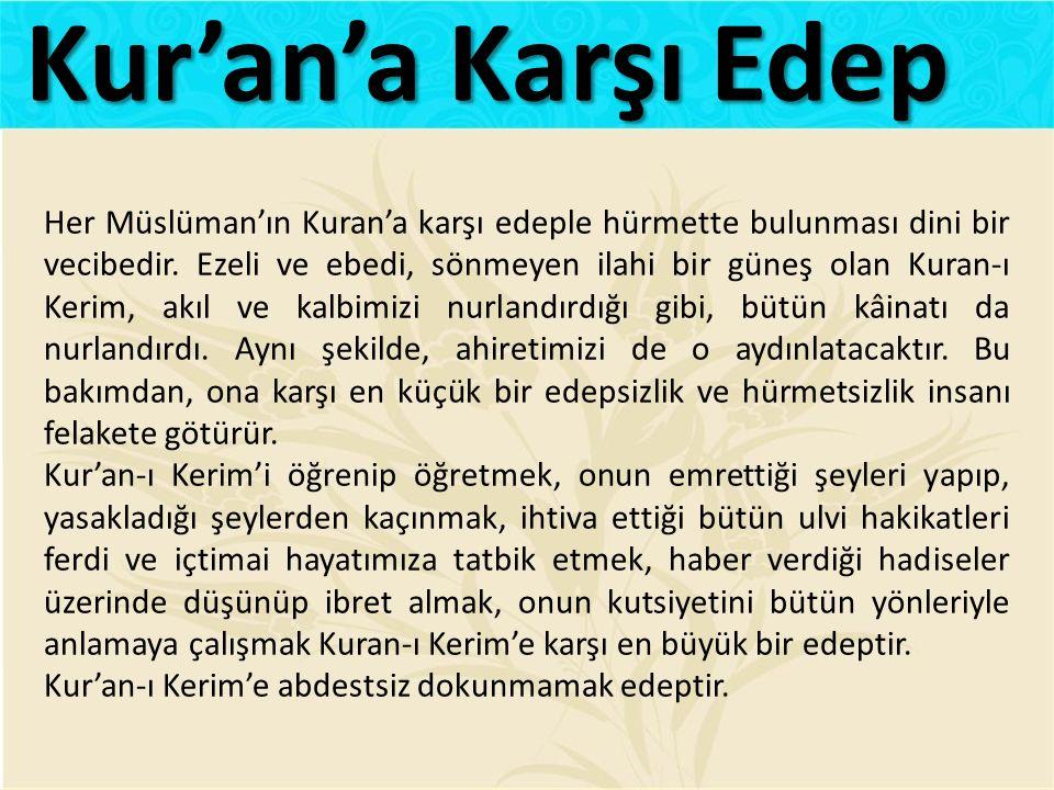 Kur'an'a Karşı Edep