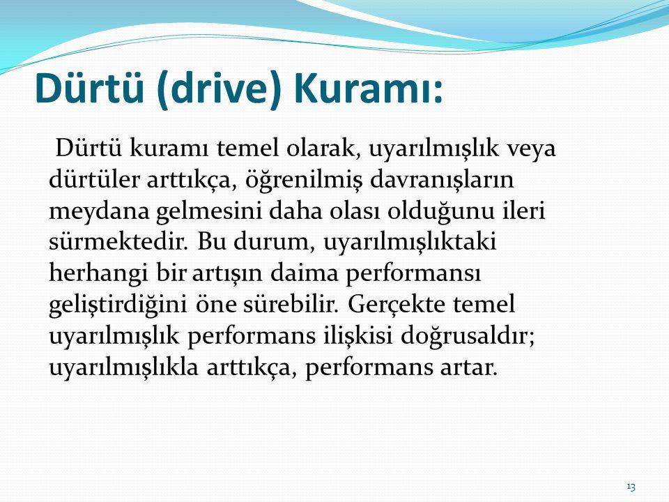 Dürtü (drive) Kuramı: