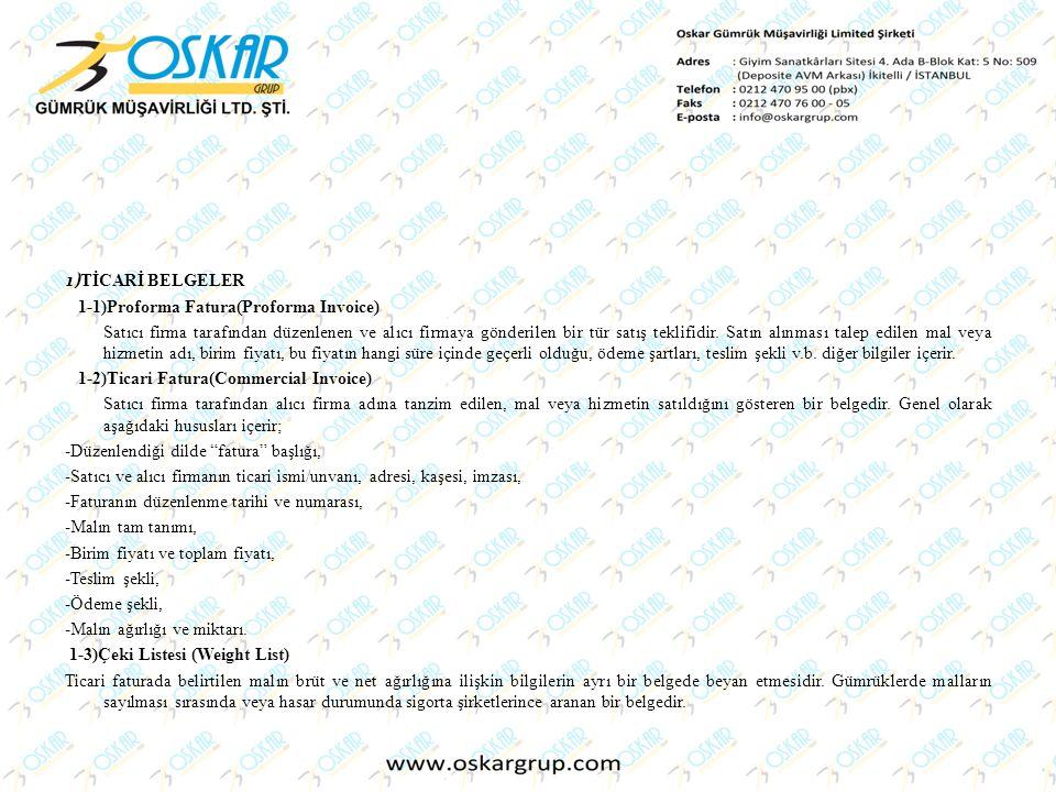 1-1)Proforma Fatura(Proforma Invoice)
