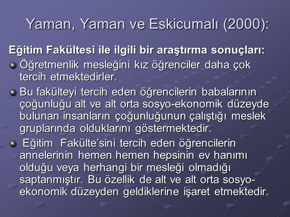Yaman, Yaman ve Eskicumalı (2000):