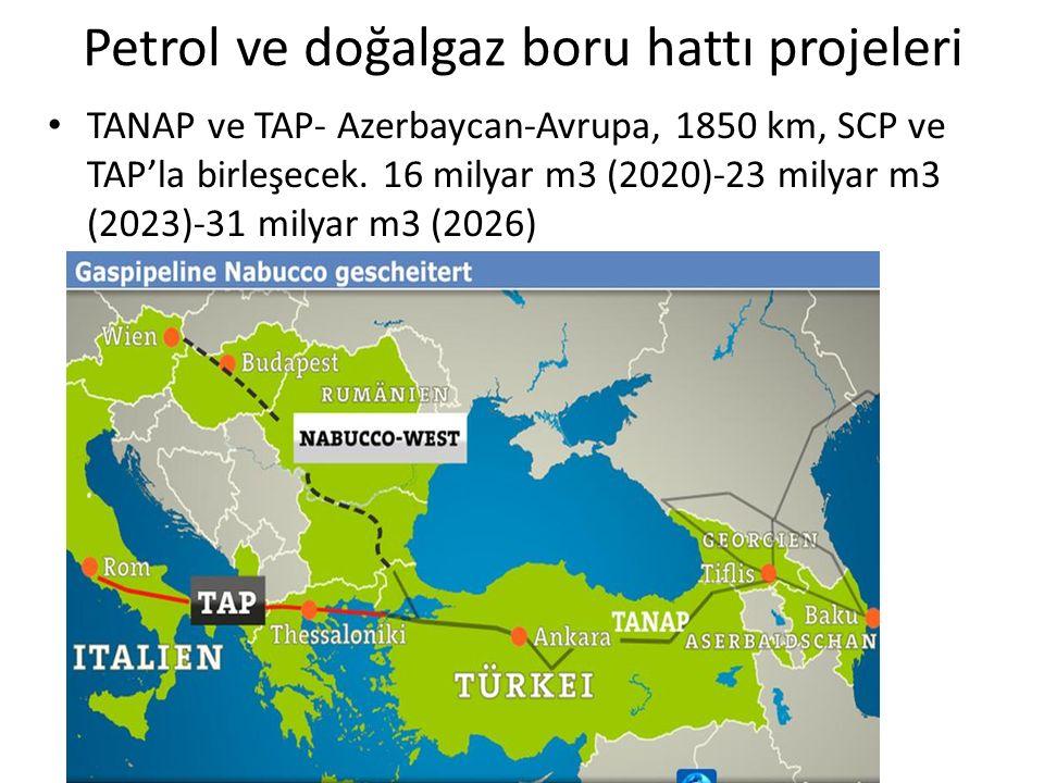 Petrol ve doğalgaz boru hattı projeleri