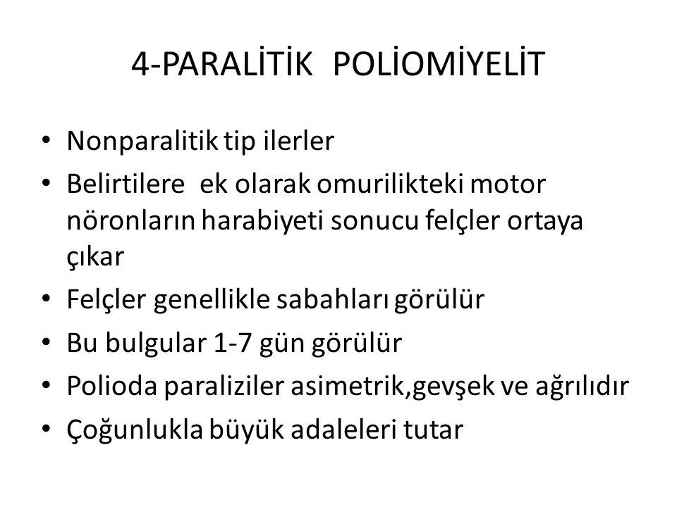 4-PARALİTİK POLİOMİYELİT