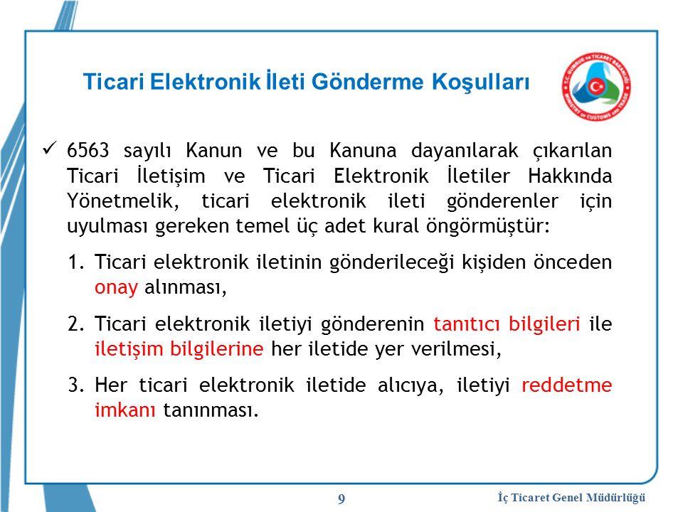 Ticari Elektronik İleti Gönderme Koşulları