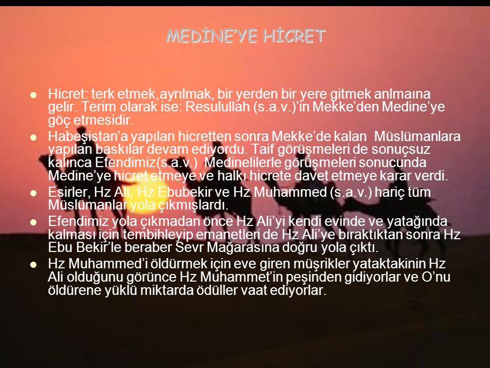 MEDİNE'YE HİCRET