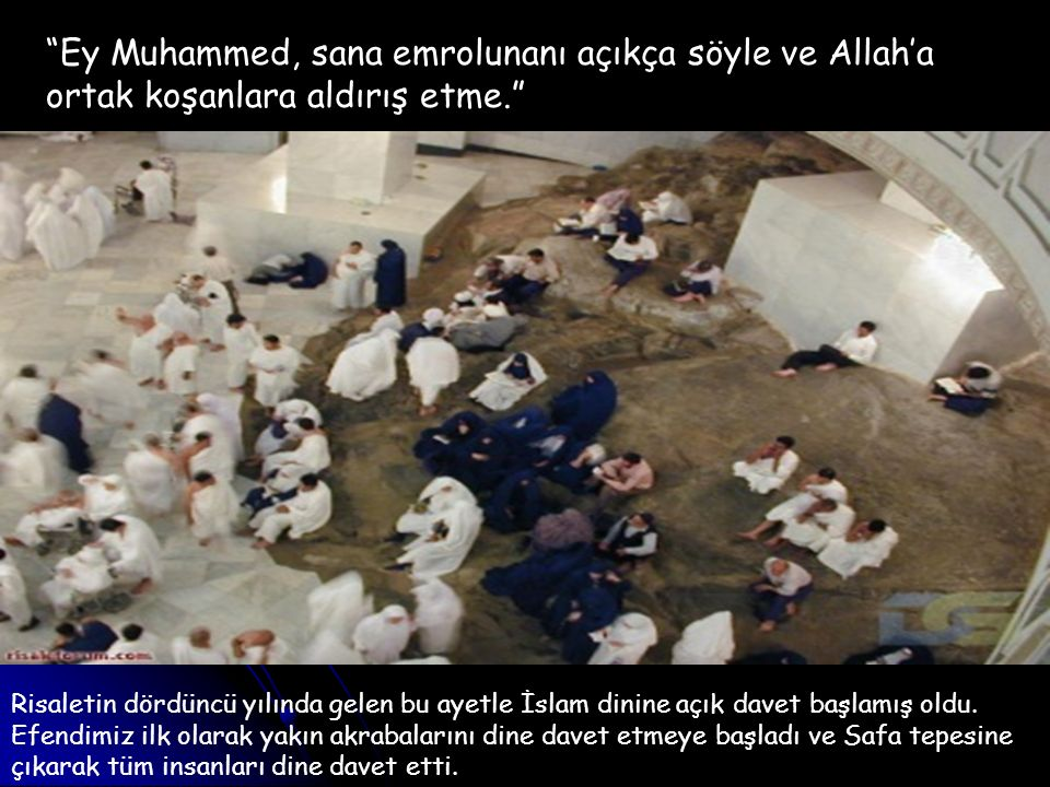 Ey Muhammed, sana emrolunanı açıkça söyle ve Allah'a ortak koşanlara aldırış etme.