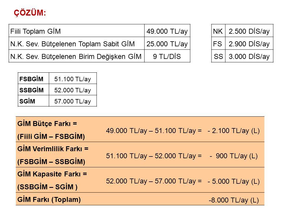 ÇÖZÜM: Fiili Toplam GİM 49.000 TL/ay