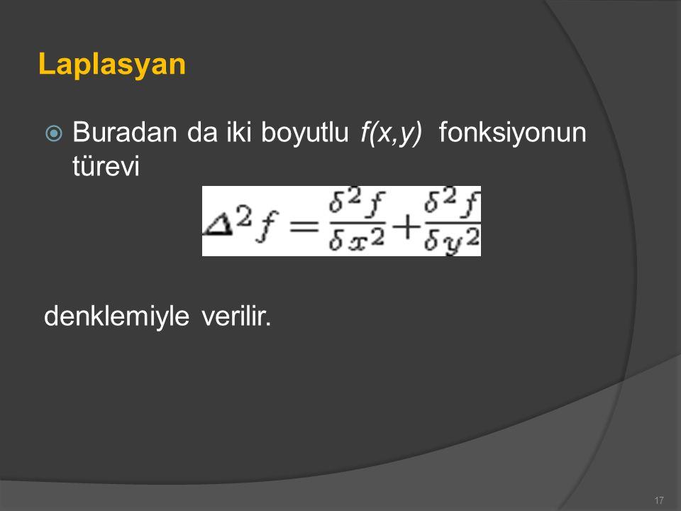 Laplasyan Buradan da iki boyutlu f(x,y) fonksiyonun türevi
