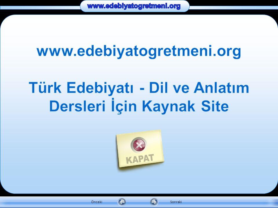 Türk Edebiyatı - Dil ve Anlatım Dersleri İçin Kaynak Site
