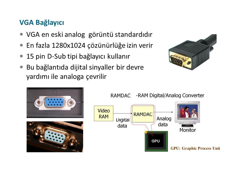 VGA Bağlayıcı VGA en eski analog görüntü standardıdır